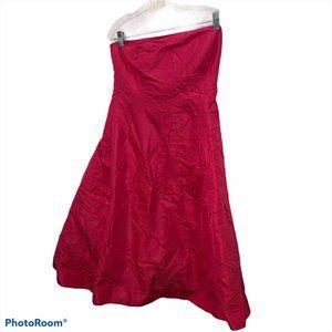 j. crew hot oink 100% silk shantung strapless dres